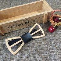 Mode Bambus Holz Bowtie Jungen Party Handgemachte Schmetterlingskrawatte Hohlbogen Krawatten für Kinder 200924