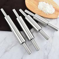 Pasta appiattimento perni di laminazione in acciaio inox manico in acciaio inox maniglia di cottura a cucchiaio fluido farina durevole polo da cucina accessori da cucina dessert shop 8 9zs N2