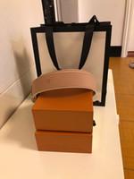 Cinturón de diseño Cinturones de diseño de alta calidad Cinturón de hebilla suave Cinturón de lujo Cinturón de lujo Hebilla de oro grande Venta caliente Envío gratis con caja naranja