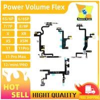 100 set Hohe Qualität für iPhone X xs 11 12 Mini XR 8P 8 7 7P 6 Volumen Power Flex Kabel MUTE Button mit Metallreparaturteile DHL Free Shipp