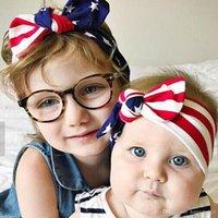 أحدث! العلم الأميركي العصابة الطفل مجموعة العمامة تمتد رباطات باندانا إكسسوارات الشعر حك معقود الشعر الفرقة
