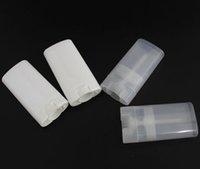 Balsamo ovale 15G FAI DA TE PLASTICA PLASTICA Vuoto 1000pcs Deodorante Portatile Contenitori Cancella Liquido Rossetto Bianco Moda Cool Lip Tubes