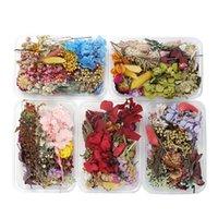 1box mélange de mélange style de style de fleurs séchées décoration naturel autocollant floral beauté clin art décalques époxy moule de bricolage bijoux h jllrrf