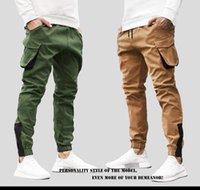 Erkekler rahat tulum pantolon erkek urgan spor moda rahat okul pantolon L024 kapanış