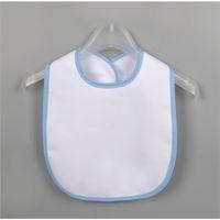 أبيض فارغة الوليد بروب الملابس نقل الحرارية diy طباعة اللعاب الأنسجة الطفل للماء مريلة الرضع اللعاب منشفة الاطفال تغذية المرايل E122107