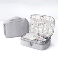 متعددة الوظائف حقيبة التخزين الرقمية USB كابل كابل المنظم المحمولة السفر كيت حالة الحقيبة للتخزين المنزلية في الهواء الطلق حقيبة 1