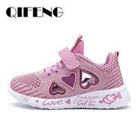 2021 niñas zapatos casuales zapatos de malla ligeros niños verano niños moda tenis lindo deporte dibujos animados hembra calcetín calcetín calzado 210226