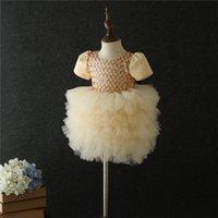 Layered Tutu Kinder Mädchen Hochzeit Blume Mädchen Kleid Prinzessin Party Formale Kleid Ball Kleine Baby Mädchen Geburtstagskleid 1 2 3 4 5 T T200709