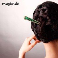 Muylinda Ethnic Retro Simples chinês Vara cabelo Geometria Vintage Mulheres Grampos jóias