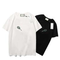 Erkekler Tees Raket Desen Yaz Bayan Şort Yeni Varış Klasik Günlük Mektup Baskı Moda Tees Gençlik Yaz T-Shirt Boyutu S-XXL