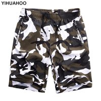 Yihuahoo occasionnel Summer Hommes Plus Taille 6xl 7xl 8xl Bermuda Board Camouflage Beach Shorts imprimés Punk Hommes Pantalants courts Y200403