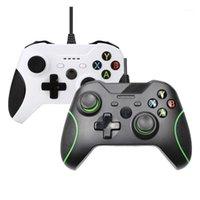 تحكم ألعاب المقود 2 ألوان USB وحدة تحكم Gamepad السلكية ل Xbox One / One S / One X Series PC / Laptop Windows 7/8/10 Series1