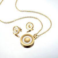 Pendientes Collar Colgante de acero inoxidable Establece sistemas de la joyería del encanto del collar para regalo de Navidad muchachas de las mujeres