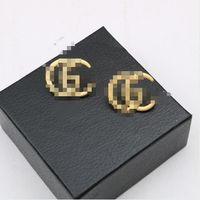 Couches d'or Boucle d'argent Snumber GGgg Lettres Dangle Boucle d'oreille en métal Goutte Boucles d'oreilles pour femmes fête de mariage bijoux boucles d'oreilles design