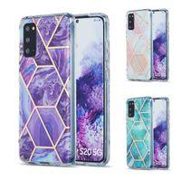 Funda para teléfono de mármol para Samsung Galaxy S20 FE S21 PLUS S30 Ultra Funda para Samsung A71 A51 A21S M51 M31 A42