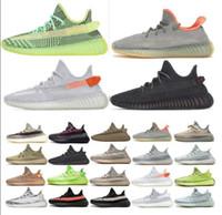 2021 Kanye West Static Shoes Scarpe da corsa Yecheil Nero Staticisrafil Cinder Desert Sage Terra Coda posteriore Zebra Donna Mens Trainer Scarpe da ginnastica