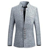 Разборчивые Blazer Men 2020 Весна Новый Китайский Стиль Бизнес Повседневная Стенд Воротник Мужской Blazer Slim Fit Мужская Куртка 4XL 5XL1