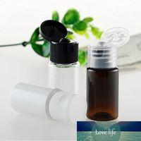 100pc lot Amber Essential Oils Refillable Perfume Bottle Deodorant Containers Flip Lid Makeup Cosmetic Vials PET Sub-bottling