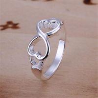 أسعار الجملة للسيدة المرأة المدرجة الفضة اللون مزدوجة الصليب الدائري مجوهرات لطيف هدية R092 H SQCDOS