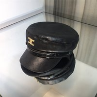 Novelty Belt Beanies Classic Letter Peaked Caps Leather Navy...