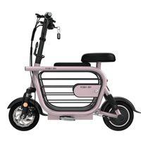 Elektro-Mini Bike Zwei Räder Elektro-Scooter 11 Zoll 400W 48V 25AH Motorrad-Weiß / Pink Folding Elektro-Scooter für Erwachsene