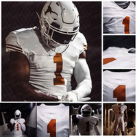 2020 Texas Longhorns 1970 Campione nazionale Tributo Sam Ehlinger Joshua Moore Joseph Ossai Chris Brown Thompson Caa Jersey Football americano