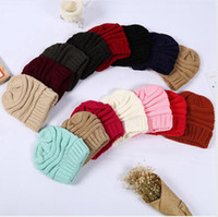Knitted Women Simple Soft Stretch Beanies Hat Trendy Winter ...