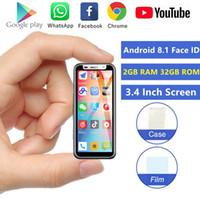 ميلروز 2019 البسيطة جوجل اللعب الذكي الترا سليم 3.4 '' 3GB 32GB الروبوت 8.1 بصمات الأصابع التعرف على الوجه 4G LTE سوبر الهاتف المحمول PK S9