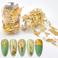 4 * 50 cm Aluminiumfolien 3D Mesh Nagel Aufkleber Glitter Line Nail Art Aufkleber Wraps Schieberegler Maniküre DIY Dekoration