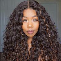 Fashion New African Piccola parrucca riccia parrucca europea e americana Parrucca da donna lunghe ricci capelli ricci selezione a colori chimica fibra copricapo