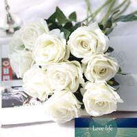 5 قطع 51 سنتيمتر الطويلة فرع الزهور باقة جميلة الأبيض الحرير الورود الاصطناعي الزهور الزفاف المنزل الجدول الديكور ترتيب زهرة وهمية