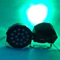SCONTO 18W 18-LED RGB Auto e Voice Control Party Stage Lights Black Top Leds Leds Nuovo e di alta qualità PAR luci calde