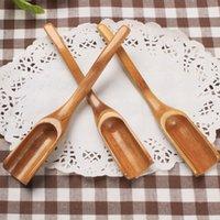 Coffee Tools Beber De Madeira Bambu Cozinhar Colher Utensílio Comprimento 18 cm Chá Scoop Home Kitchen Acessórios