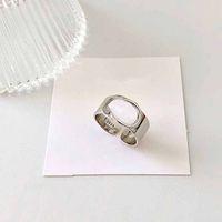 925 серебряные кольца полые буквы кольцо простые моды ювелирные изделия хип-хоп панк кольцо вечеринка подарок аксессуар шарма ювелирные изделия