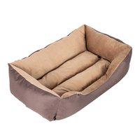 """[HOBBYZOO] 28"""" Tamanho Grande Pet Bed Dog Cat Mat almofada macia PP Cotton Brown"""