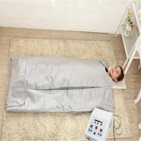 Новая модель 2 зона ель сауна Дальнее инфракрасное тело для похудения сауна одеяло отопительная терапия Тонкий мешок SPA потерю веса тела детоксикация