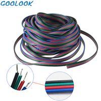 1m 5m 10m 4 Pin-Drahtverlängerung Anschluss Kabelkabel LED RGB-Anschluss zum Anschluss für SMD 5050 2835 RGB-LED-Streifenlicht