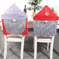 Chair di Natale Babbo Natale Covers copertura Cena sedia cover posteriore Sedie Cap natale casa banchetto di nozze Decorazioni di Natale KKA1426