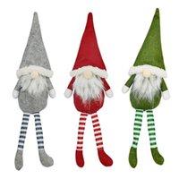 Capodanno Decorazioni di Natale farciti scandinavo Gnomi Ornamenti Adorable Vacanze Grigio Verde e Rosso Troll ornamento JK2011XB