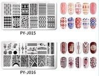 Hot Schönheit Gesundheit Nail Stamping Plates Linie Bilder Nail Art Platte Edelstahl Design Rotten Vorlage für Drucken Schablonen-Werkzeuge