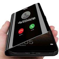 Boîte à rabat miroir intelligent pour Xiaomi Redmi K30 Note 10 8 7 6 K20 5A 7S 5 3 PRO 6A 5A 7 7A GO 5 4X 5 Plus S2 Y2 9 PRO CC9 CC8E COUVERTURE