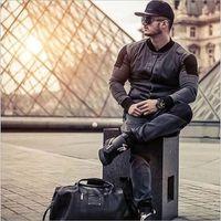 Hommes lavés Denim Jacket Fashion Sports Stand Stand Stand Collier Veste pour hommes Patchwork Design Spring Automne Nouveau 201111