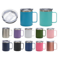 12oz Stainless Steel Mug Thermos Cup Simple Handle Cup With ...
