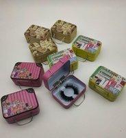 3 styles rétro valise créative cils créatif case faux cils emballages boîtes d'emballage petit boîte de beauté boîte de beauté
