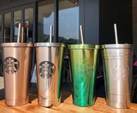 حار آخر 16 أوقية الفولاذ المقاوم للصدأ ستاربكس كأس القهوة القهوة، معبأة بشكل فردي مع القش، ستاربكس أكواب القش، حرية الملاحة