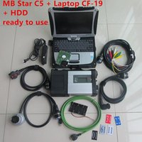 MB Star C5 Sd For Mercdes cars trucks with Sd connect 5 vediamo dts V2020.09 hdd with CF19 laptop CF-19 PC