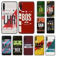 travel plane Label Ticket Phone case For Xiaomi Redmi Note S...