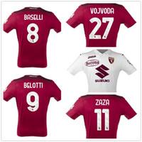 Personalizado 20-21 Torino Home Qualidade Tailandesa Jersey Camisas Belotti 9 Baselli 8 Zaza 11 Vojvoda 27 Costume Online Atacado Desconto Barato