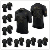 "San ""Francisco""49ers ""남성 여성 청소년 Jerry Rice Nick Bosa George Kittle Jimmy Garoppolo Limited Jersey 2020 서비스에 대한 경례"