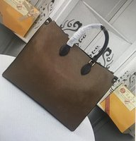M44576 جلدية عالية الجودة موضة ONTHEGO مزدوجة اللون حقائب اليد الكبيرة زهرة حمل حقيبة محفظة كلاسيكي التسوق حقيبة الكتف